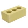 Кирпич М150 силикатный жёлтый лицевой пустотелый 250х120х88мм 672шт.